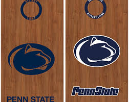 Penn State Set Of 8 Vinyl Cornhole Decals Stickers Free Window Decals Cornhole Bag Toss