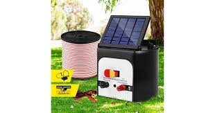 Dick Smith Giantz 8km Solar Electric Fence Wire Energiser Energizer Battery Charger Cattle Horse Power Tools Accessories