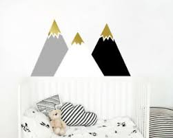 Mountain Wall Decal Multicolor Nursery Decal Mountain Decals Kids Decal Ga25 Ebay