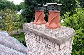 chimney has spalling brick