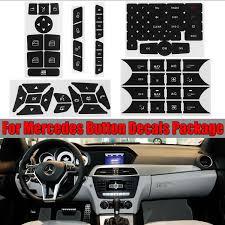 1 Set Button Repair Sticker Steering Ac Window Decals Stickers For Benz Glk350 C Class Cls C218 Slk W172 W204 W212 W218 W207 Wish