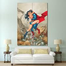 Superman Kissing Wonder Woman Block Giant Wall Art Poster