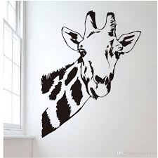 Giraffe Head Wall Stickers For Kids Room Jungle Wild Animal Vinyl Removable Diy Wall Decals Bedroom Wallpaper Home Decor Wall Decals Nursery Wall Decals On Sale From Joystickers 10 76 Dhgate Com