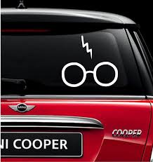 Harry Potter Glasses And Scar Vinyl Decal Sticker Hand Made With Durable Outdoor Quality Vinyl Can Be Applied To Any Truck Window Stickers Vinyl Decals Vinyl