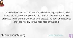 nicholas duncan williams quote about goodness faithful