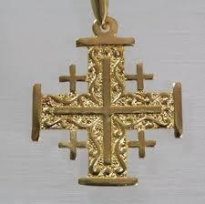 yellow gold cross pendant 14k
