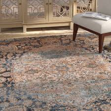 bungalow rose na navy area rug