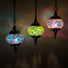 stained glass pendant lamp handmade