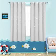 Amazon Com Nursery Blackout Curtains Kids Room Darkening Window Curtains For Bedroom 63 Inches Long Twinkle Star White Draperies For Living Room Grommet Top Thermal Insulated Window Treatment Set 2 Panels Furniture