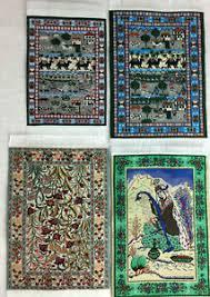 persian miniature 4 x 6 blue