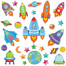 The Original Space Rocket Wall Stickers Get Sticking