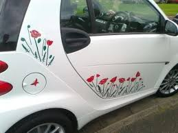 Smart Poppy Field Special Car Stickers Hippy Motors Car Stickers Vinyl Decals Transfers Car Sticker Ideas Smart Car Beetle Car