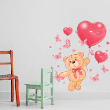 Teddy Bear Wall Decal Style And Apply