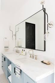 washstand with black mirror