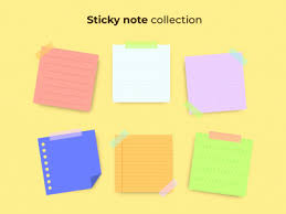sticky note collection by sara on dribbble