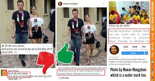 Did Brett Lee along with his wife ...
