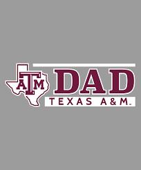 Texas A M Aggie Lonestar Dad Car Decal White Aggieland Outfitters