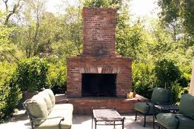 outdoor fireplace with bricks how does