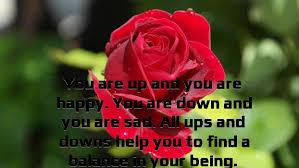 you are up and you are happy you are down and you are sad all