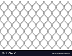 Realistic Metal Chain Link Fence Royalty Free Vector Image