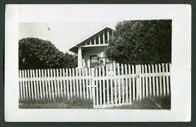 Vintage Photo Little House And White Picket Fence 1930 S Etsy