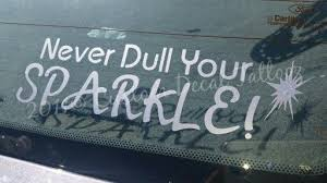 Never Dull Your Sparkle Car Decal Custom Decals Car Decals Decals