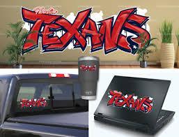 Houston Texans Graffiti Vinyl Vehicle Car Laptop Wall Sticker Decal Ebay