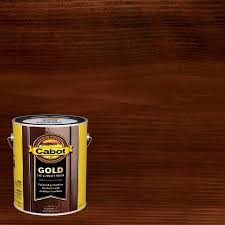 Cabot Gold Pre Tinted Moonlit Mahogany Transparent Exterior Stain And Sealer Gallon In The Exterior Stains Department At Lowes Com
