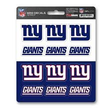 Team Promark New York Giants 12 Pack Decal Set In The Exterior Car Accessories Department At Lowes Com