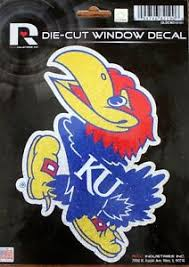 Kansas University Jayhawks Cut Window Decal College Car Sticker Made In Usa Ebay