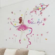 Pink Wall Sticker Dancer Wall Decal For Girls Room Bedroom Ebay