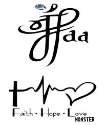 maa faith love men women waterproof