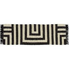 ways jute black natural stripes runner