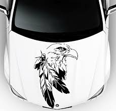 Car Decals Hood Decal Vinyl Sticker Eagle Bird Predator Feather Auto Decor Graphics Os126 Wish