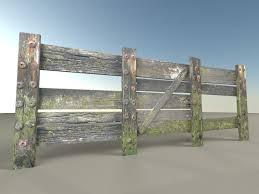 Old Fence Gate Mailbox Pack 3d Model Cgstudio