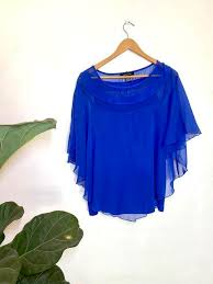 blue Adele & May blouse, Women's Fashion, Clothes, Tops on Carousell
