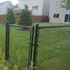 China 4ft Black Vinyl Coated Residential Playground Garden Chain Link Fence China Garden Fencing Chain Link Garden Fencing