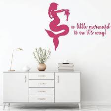 Little Mermaid Baby Girl Nursery Decoration Vinyl Decor Wall Decal Customvinyldecor Com