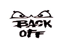 Back Off With Eyes Decal For Yeti Cup Tumbler Coffee Mug Etsy