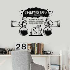 Wall Decal Science Substances Chemistry Lab School Classroom Interior Decor Door Window Vinyl Stickers Lettering Wallpaper E121 Wall Stickers Aliexpress