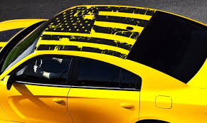 2006 2020 Dodge Charger American Usa Flag Roof Decal Ztr Graphicz