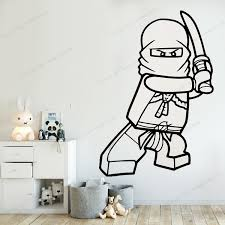 Ninjago Vinyl Wall Sticker Decal Kids Black