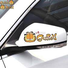 2 X Car Accessories Cartoon Car Styling Lovely Garfield Rear View Mirrors Light Eyebrows Doors Whole Body Stickers Decal Vinyl Car Decal For Toyotacar Body Sticker Aliexpress