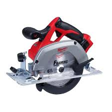 Milwaukee M18 18 Volt Lithium Ion Cordless 6 1 2 In Circular Saw Tool Only 2630 20 The Home Depot