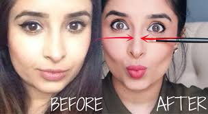 make nose thinner with makeup