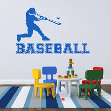 Home Garden Decor Decals Stickers Vinyl Art Baseball Player Sports Vinyl Wall Sticker Decal Kids Boys Room Fan Gift Poster