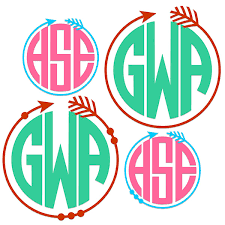 Monogram Decal Monogram Sticker Monogram Decals Monogram Laptop Decal Car Decal Custom Cup Decal Monogram Car Decal Monogram Sold By All4vinyl On Storenvy