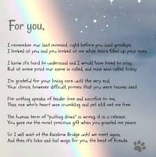 a beautiful poem from the rainbow bridge dog poems pet grief