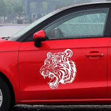 10 Tiger Car Decals Stickers White Black Red Yellow And Blue Carsoda