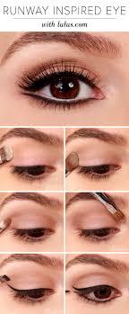 runway inspired black eyeliner makeup